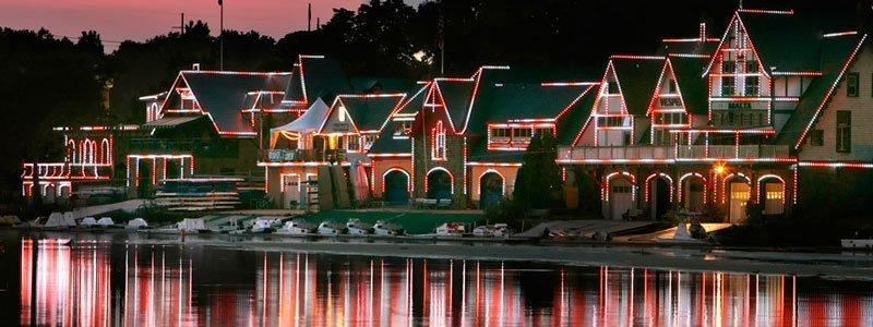 Boathouse Row - Navidad en Filadelfia