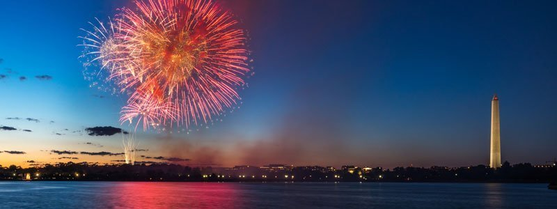 Fuegos artificiales del cuatro de julio en Washington