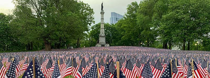 monumentos de guerra en Boston